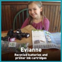 Evianne recycled batteries