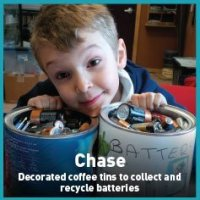 Chase recycling batteries