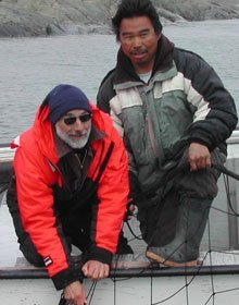 steve and johnassie catching  a seal