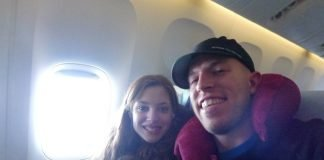 Ty and Caitlin plane