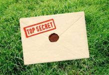 grass, top secret envelope